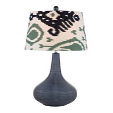 Penarth Ceramic Table Lamp In Navy Blue