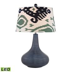 Penarth Ceramic Led Table Lamp In Navy Blue