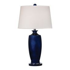 Halisham Ceramic Table Lamp In Navy Blue
