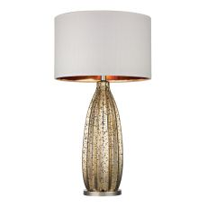 Pennistone Antique Gold Mercury Table Lamp  In Polished Nickel