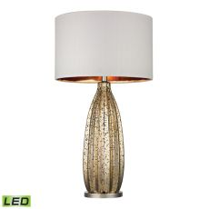 Pennistone Antique Gold Mercury Led Table Lamp  In Polished Nickel