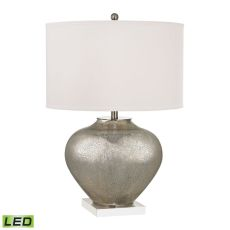 Edenbridge Antique Mercury Glass Led Table Lamp With Led Nightlight