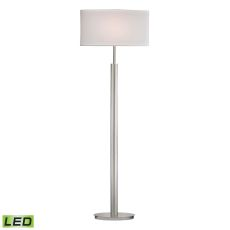 Port Elizabeth Led Floor Lamp In Satin Nickel
