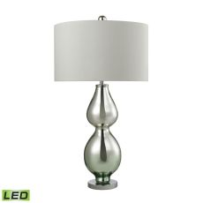 Double Gourd Led Table Lamp In Light Green Mercury