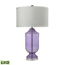 Translucent Trophy Led Table Lamp In Purple Glass