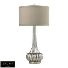 Trump Home Stem Neck Table Lamp In Antique Mercury Glass