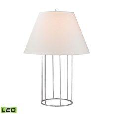 Barrel Frame Led Table Lamp In Polished Chrome