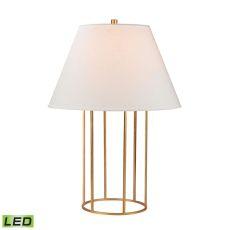 Barrel Frame Led Table Lamp In Gold Leaf