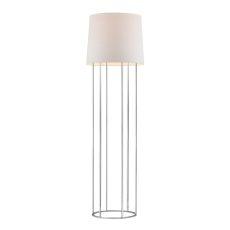 Barrel Frame Floor Lamp In Polished Chrome