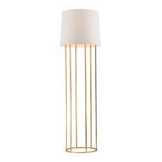 Barrel Frame Floor Lamp In Gold Leaf Finish