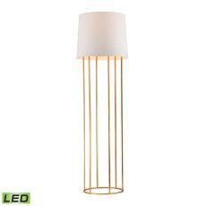 Barrel Frame Led Floor Lamp In Gold Leaf Finish