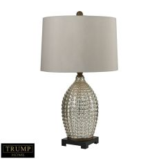Trump Home Reverse Hammered Glass Table Lamp In Antique Mercury
