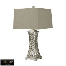 Trump Home Woven Metal Thread Table Lamp In Silver Leaf