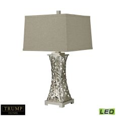 Trump Home Woven Metal Thread Led Table Lamp In Silver Leaf
