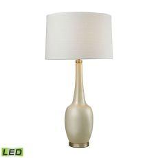 Modern Vase Ceramic Led Table Lamp In Cream