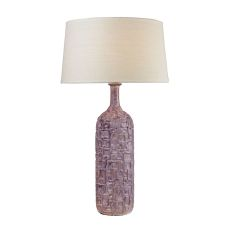 Cubist Ceramic Bottle Lamp In Lilac