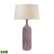 Cubist Ceramic Led Bottle Lamp In Lilac