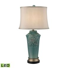 Organic Flowers Led Table Lamp In Seafoam Finish