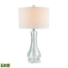 Flaired Glass Led Table Lamp In Translucent Light Green
