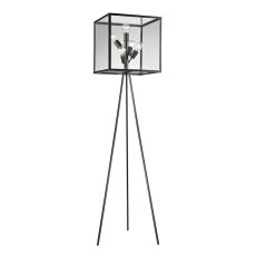 Workshop Glass Cube Floor Lamp In Aged Bronze