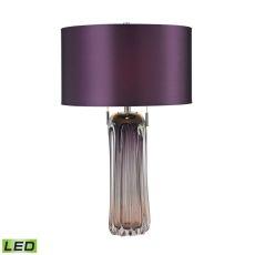 Ferrara Free Blown Glass Led Table Lamp In Purple