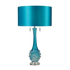 Vignola Free Blown Glass Table Lamp In Blue