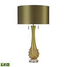 Vignola Free Blown Glass Led Table Lamp In Green
