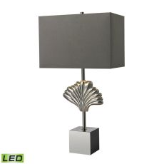 Vergato Solid Brass Led Table Lamp In Polished Chrome