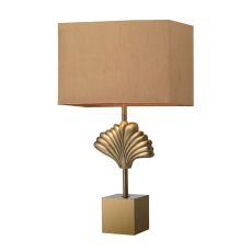 Vergato Solid Brass Table Lamp In Aged Brass