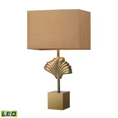 Vergato Solid Brass Led Table Lamp In Aged Brass