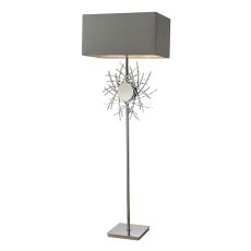Cesano Abstract Formed Metalwork Floor Lamp In Polished Nickel