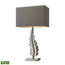 Oak Cliff Solid Brass Led Table Lamp In Polished Chrome