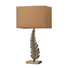 Oak Cliff Solid Brass Table Lamp In Aged Brass