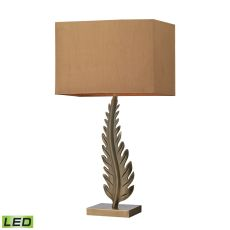 Oak Cliff Solid Brass Led Table Lamp In Aged Brass