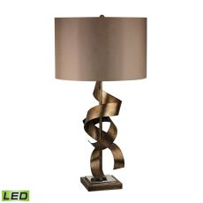 Allen Metal Sculpture Led Table Lamp In Roxford Gold