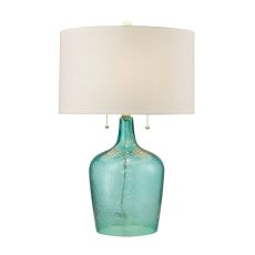 Hatteras Hammered Glass Table Lamp In Seabreeze