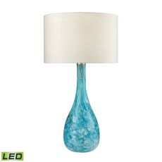 Mediterranean Blown Glass LED Table Lamp in Seafoam