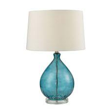 Wayfarer Glass Table Lamp In Teal