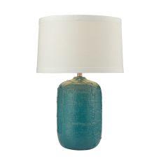 Patchwork Ceramic Table Lamp In Mediterranean Blue Finish