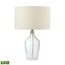 Hideaway Clear Glass Led Table Lamp