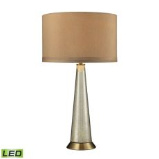 Middlebury Antique Mercury Glass Led Table Lamp In Aged Brass