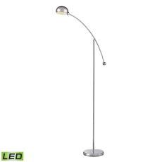 Louis Adjustable Led Floor Lamp In Polished Chrome