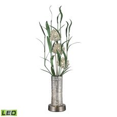 Windbear Contemporary Floral Display Floor Lamp In Silver