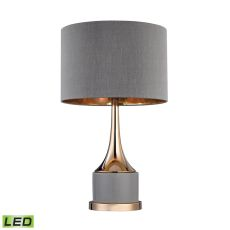 Small Gold Cone Neck Led Lamp