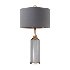 Tall Gold Cone Neck Lamp