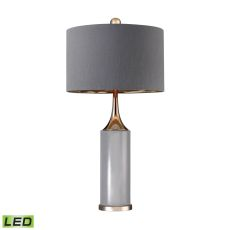 Tall Gold Cone Neck Led Lamp