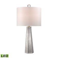 Hexagonal Mercury Glass Led Lamp