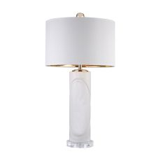 White Embossed Oval Lamp