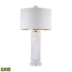 White Embossed Oval Led Lamp