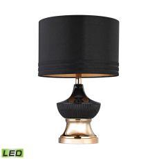 Black Ribbed Led Genie Lamp